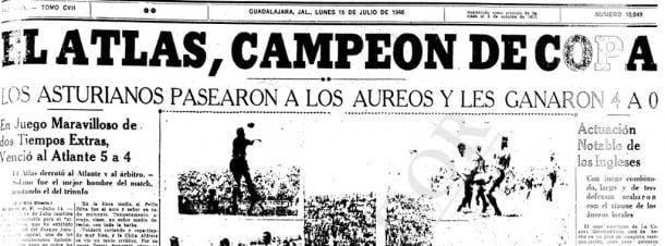 Periódico que narra la victoria de Atlas en la final de Copa. / Fuente: El Informador