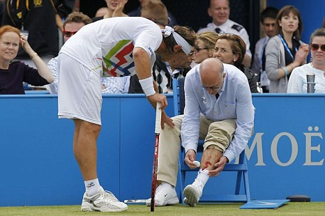 A moment to forget in David Nalbandian's career. Photo: Getty