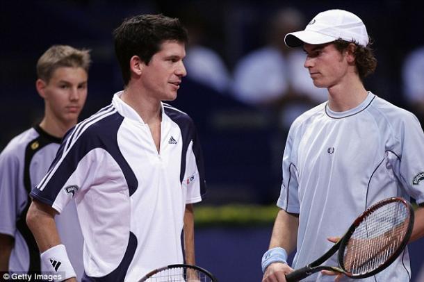 Henman y Murray. Foto: gettyimages