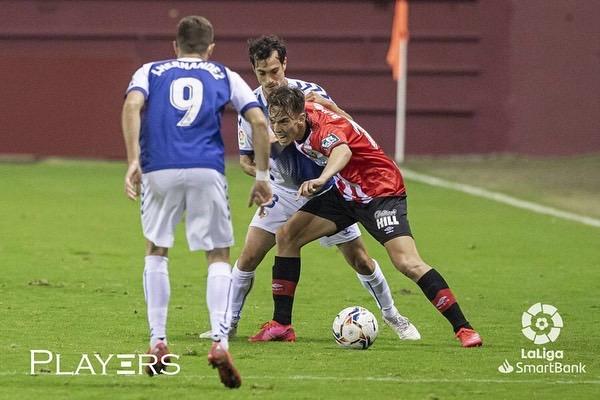 Paulino de la Fuente, durante un partido con la UD Logroñés | Fuente: LaLiga & Players