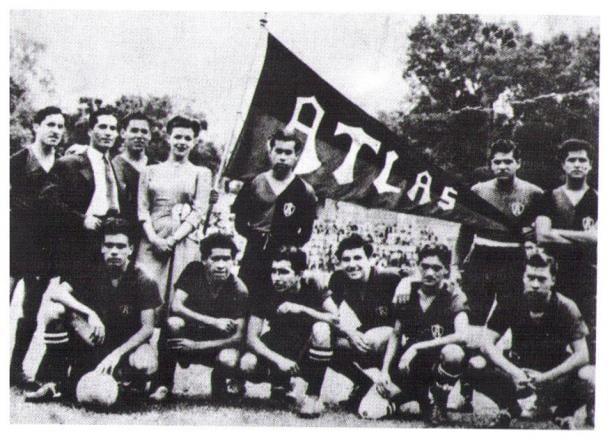 Equipo rojinegro que marcó época en los 40s y 50s. / Fuente: Atlas FC