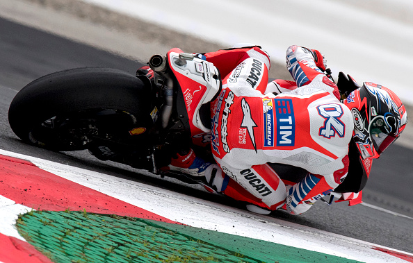 Dovizioso in action. | Image credit: Joe Kalmar/AFP/Getty Images