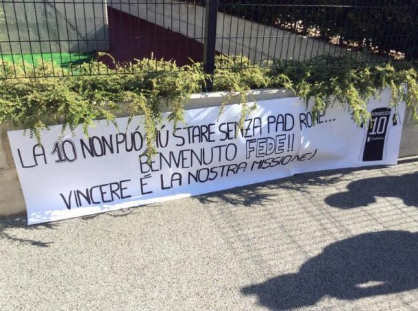 """""""A 10 não pode mais ficar sem dono... Bem-vindo, Fede!! Vencer é a nossa missão"""" (Foto: Marco Spadavecchia/Tuttojuve.com)"""