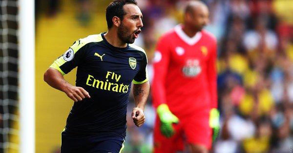 Cazorla celebrando un gol con el Arsenal | Arsenal FC