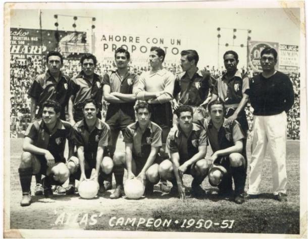 Equipo campeón de la temporada 1950-51. / Fuente: Atlas FC