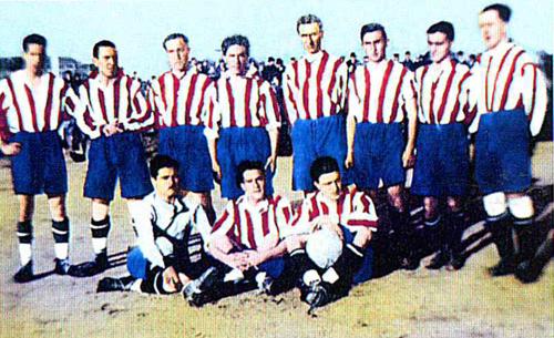 Este fue el equipo que levantó el primer título de la historia colchonera. /Página oficial del Club Atlético de Madrid