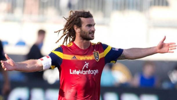 Kyle Beckerman will need to control the midfield for Real Salt Lake on Saturday against LA. Photo provided by Getty Images.