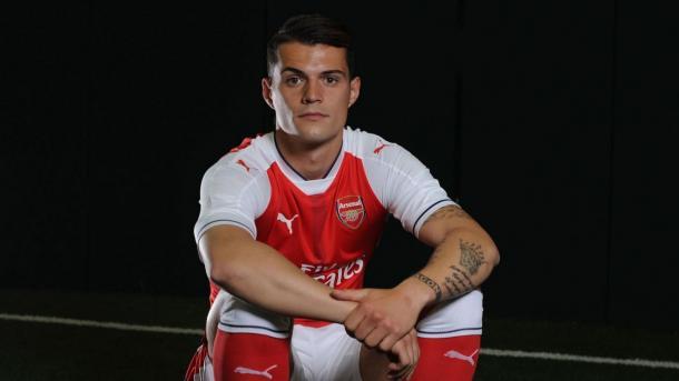 New signing, Granit Xhaka. | Source: Arsenal