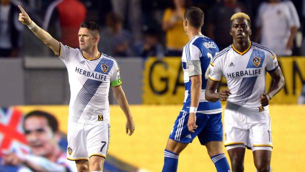 The questions on every Galaxy's fan mind is will Robbie Keane (Left) or Gyasi Zardes (Right) play on Monday against the Whitecaps at the StubHub Center? Photo provided by Kirby Lee-USA TODAY Sports.