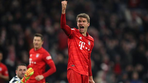 Thomas Müller celebrando un tanto esta temporada / FOTO: FCBayern