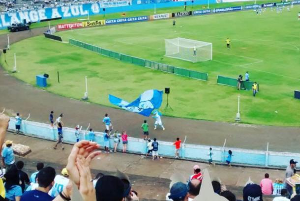 Imagem da torcida do Tubarão no Estádio do Café (Foto: Divulgação/ Londrina EC)