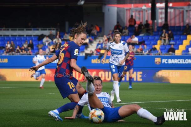 Graham anotó el 2-1 ante el Granadilla Tenerife   Foto: Noelia Déniz (VAVEL)