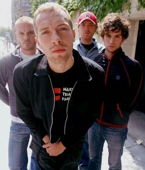 Coldplay en sus primeros años   Fuente: Pinterest