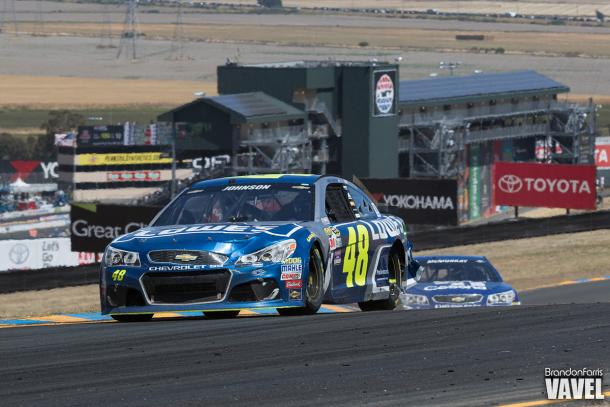 Jimmie Johnson at Sonoma last year where he finished 13th.