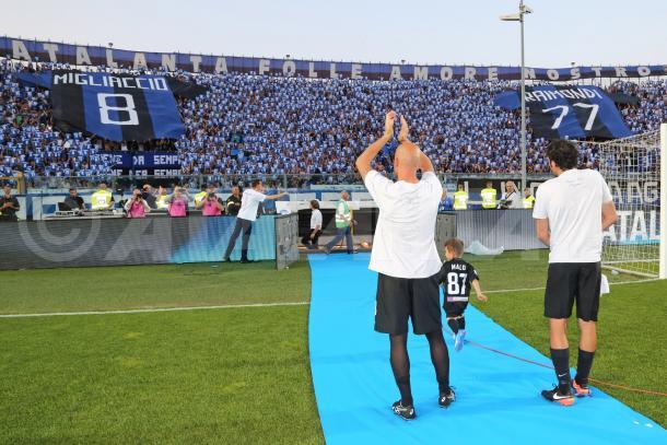 Migliaccio y Raimondi protagonizaron la fiesta con sus despedidas (Foto: Atalanta)