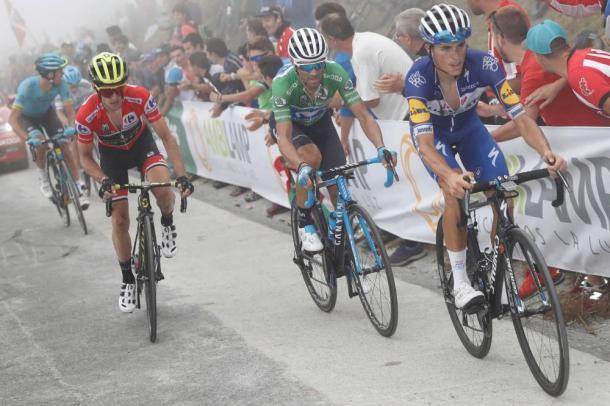 Valverde tuvo un gran rendimiento en el Balcón de Vizcaya. | Foto: La Vuelta