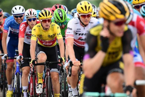 Ciccone se mantiene como líder del Tour. | Foto: LeTour
