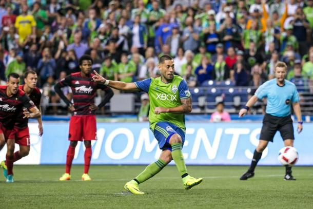 Clint Dempsey will be key for the Sounders against Portland | Source: Bettina Hansen-The Seattle Times