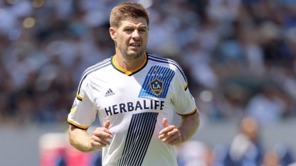 Steven Gerrard will need to control the tempo of the Galaxy's midfield on Saturday against RSL. Photo provided by Getty Images.