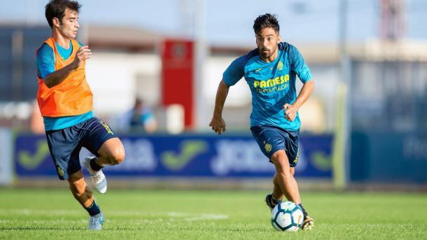 Jaume Costa y Trigueros durante un entrenamiento | Villarreal Cf