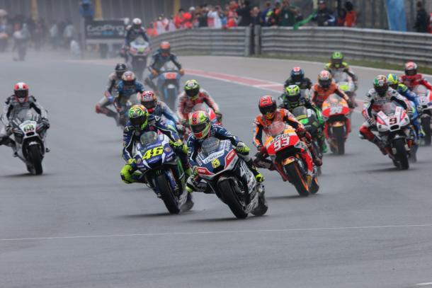 Wet race for the MotoGP riders at German GP, Barbera made a great start - www.avintiaracing.com