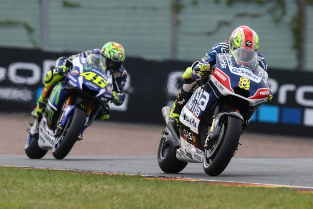 Barbera ahead of Rossi - www.avintiaracing.com
