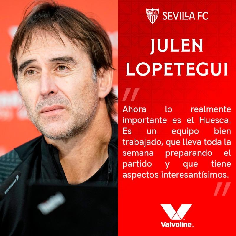 Rueda de prensa de Julen Lopetegui / Twitter: Sevilla FC