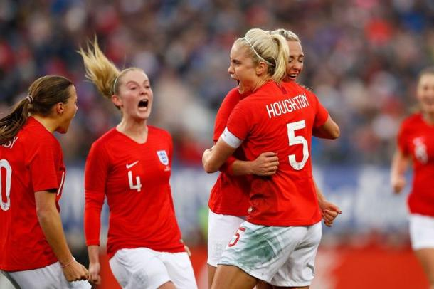 Steph Houghton celebrates with her teammates | Source: Lynne Cameron-The FA/REX/Shutterstock