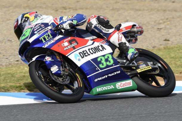 Enea sobre el asfalto de Motegi. Imagen: Gresini Racing.