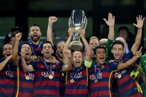 El Barcelona levanta la Supercopa en Georgia