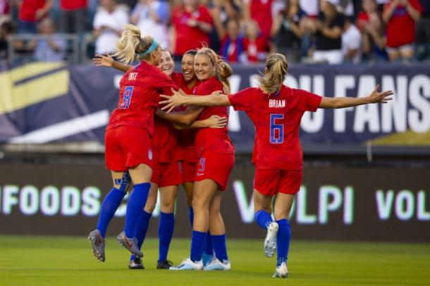 Christen Press was a creative force throughout the game | Source: Mitchell Leff-Getty Images