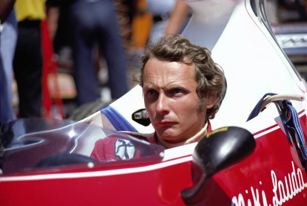 Lauda e la sua Ferrari