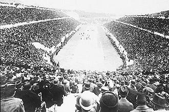 Estádio Panatenaico, construído em 536 a. C (Foto:Folha Press)
