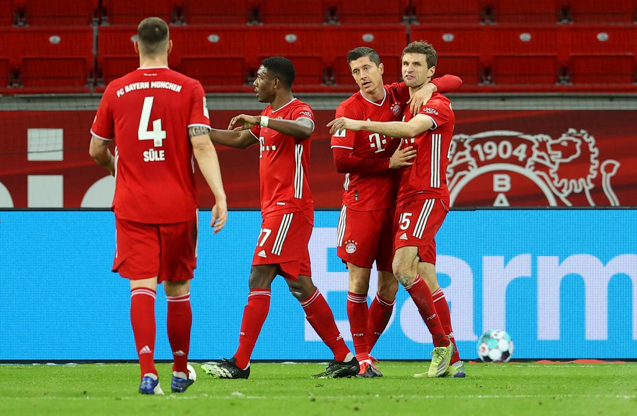Lewandowski castigó el error del Bayer / FOTO: @FCBayern