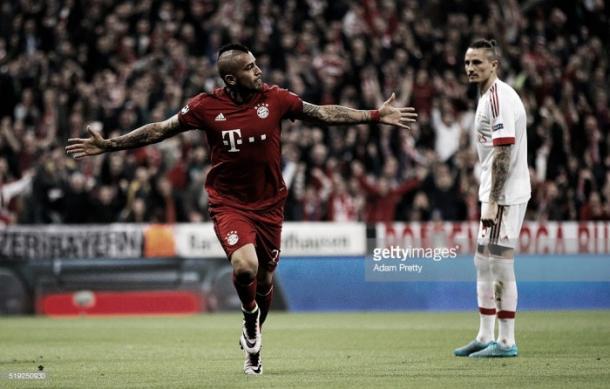 Vidal marcou o único golo da 1ª mão