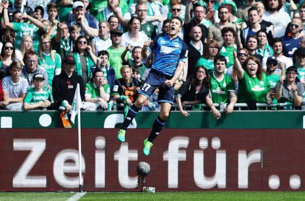 Kramaric sfoga tutta la sua energia dopo aver segnato una doppietta. | TSG 1899 Hoffenheim, Twitter.