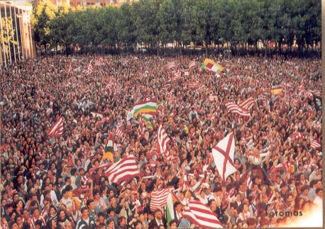 Fiesta en el ascenso del Logroñés a Primera (fuente listasdefútbol.com)