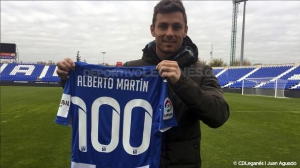 Alberto Martín cumple 100 encuentros | Foto: CD Leganés