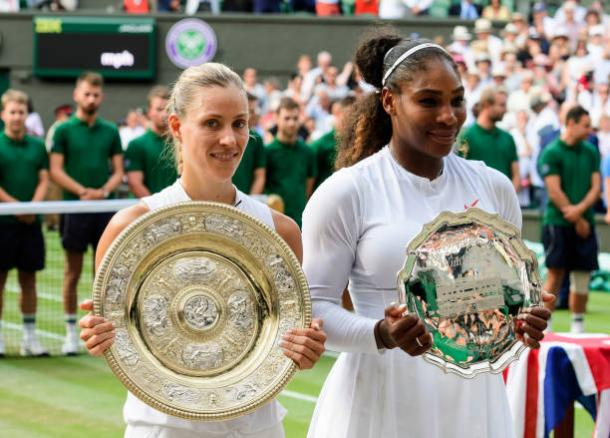 Kerber beat Serena Williams to win the title (Getty/TPN)