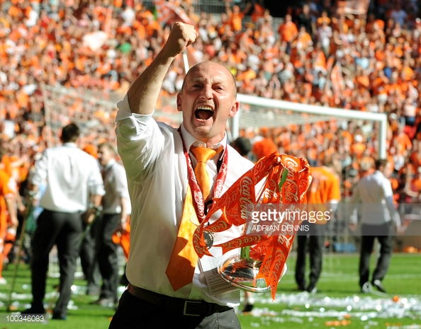 Holloway achieved promotion to the Premier League with Blackpool. (picture: Getty Images / Adrian Dennis)