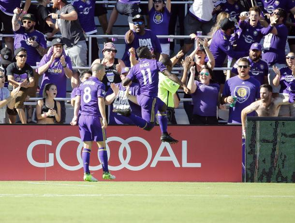 Carlos Rivas scored the pick of the goals in Orlando on Saturday | Source: Kim Klement-USA TODAY Sports