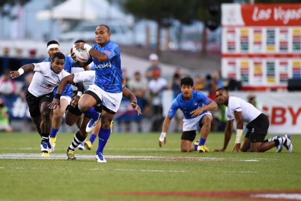 Samoa beat eventual tournament winners Fiji in last week's Las Vegas Sevens (image via: kitv.com)