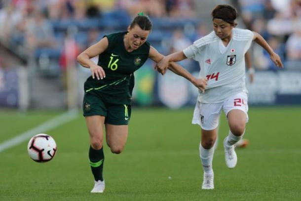 Japan kept Australia at bay in the first 45 minutes of the game | Source: Annie Rice-AP