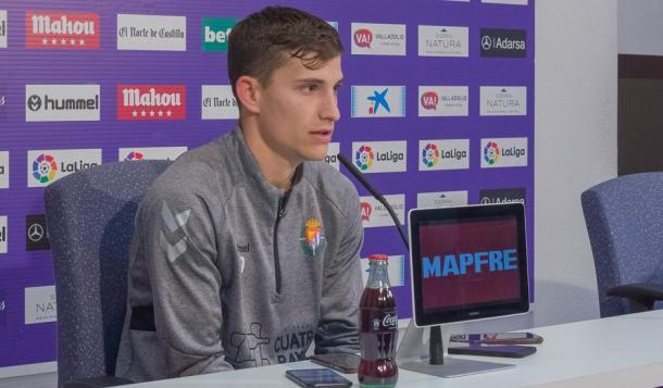Toni Villa en rueda de prensa | Real Valladolid
