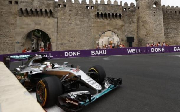 Lewis Hamilton at the European Grand Prix | Image: REX