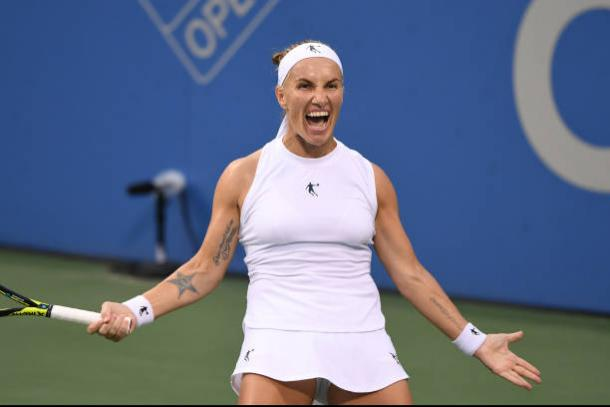 Kuznetsova celebrates after emerging victorious in the Citi Open final (Getty/Mitchell Layton)