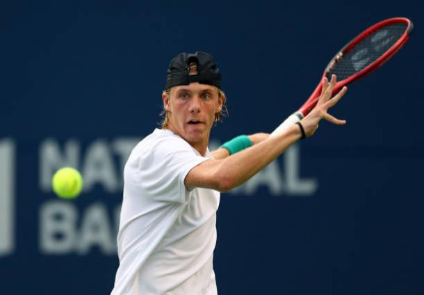 Shapovalov will frequently look to attack off his forehand side (Getty Images/Vaughn Ridley)
