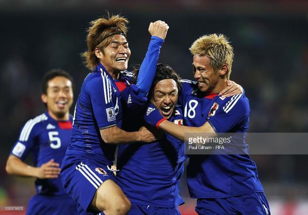 Yasuhito Endo celebrando el segundo gol ante los daneses | Foto: Getty Images