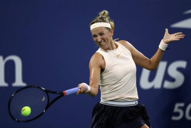 Azarenka will look to dictate play by frequently being aggressive (Getty Images/Matthew Stockman)