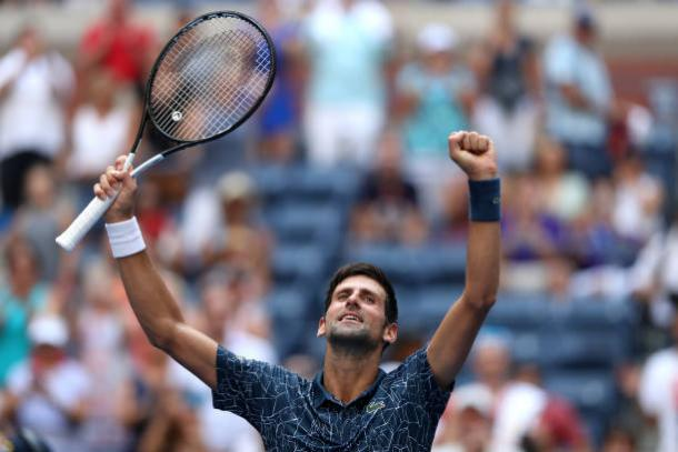 Novak Djokovic was forced to come through a tough opening round clash at Flushing Meadows (Getty Images/Matthew Stockman)